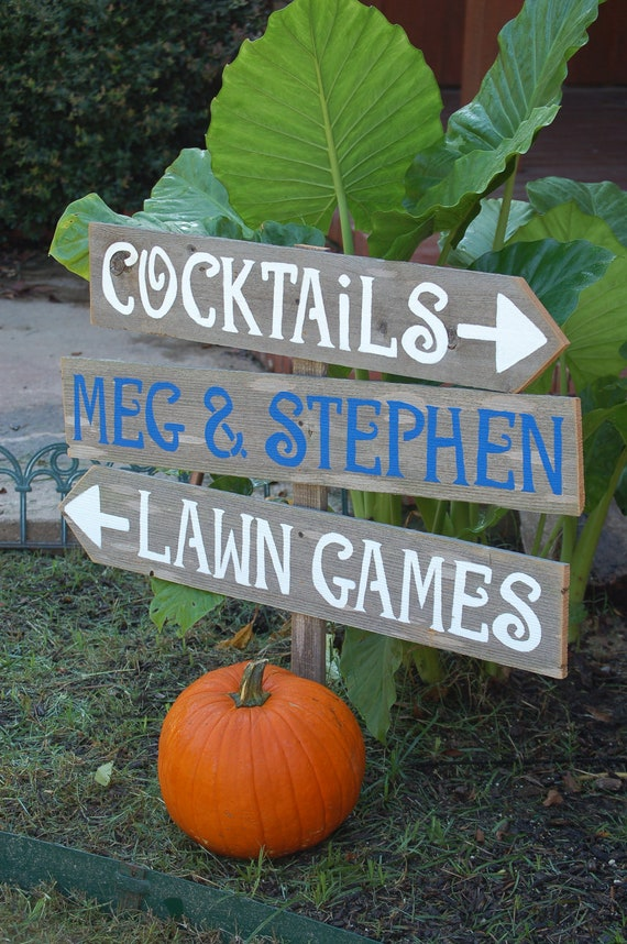 Wedding Signs Martha Stewart Weddings Featured LARGE FONT 3 With A Stake. Reception Party Sign Dinner and Dancing Sign