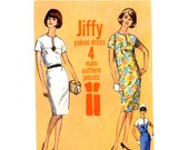 Simplicity 5875 Mod shift dress vintage sewing pattern Bust 38