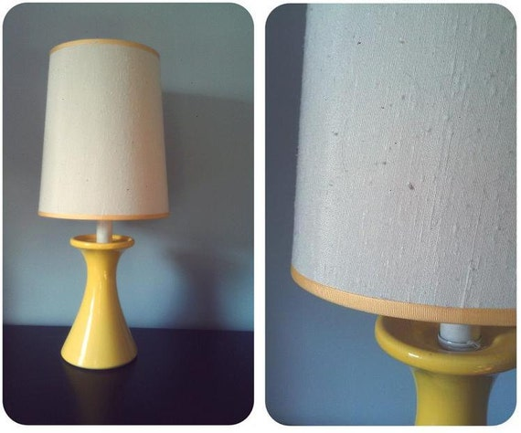 ON RESERVE....................Vintage Sunny Yellow Table Lamp