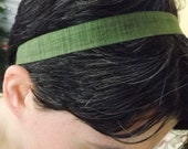 Green with Envy-Tie Back Headband