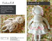 Heirloom Doll sewing Pattern  e pattern plush toy girl doll