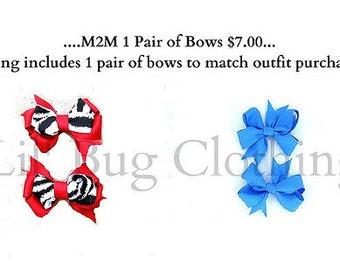 M2M Custom Boutique Childrens 1 Pair of Bows