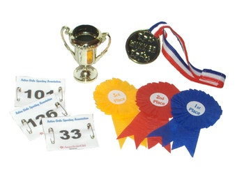 """Awards Set - Made to Fit American Girl / 18"""" Doll  - DOLL ACCESSORIES - For Sports, Dance, Pets!"""