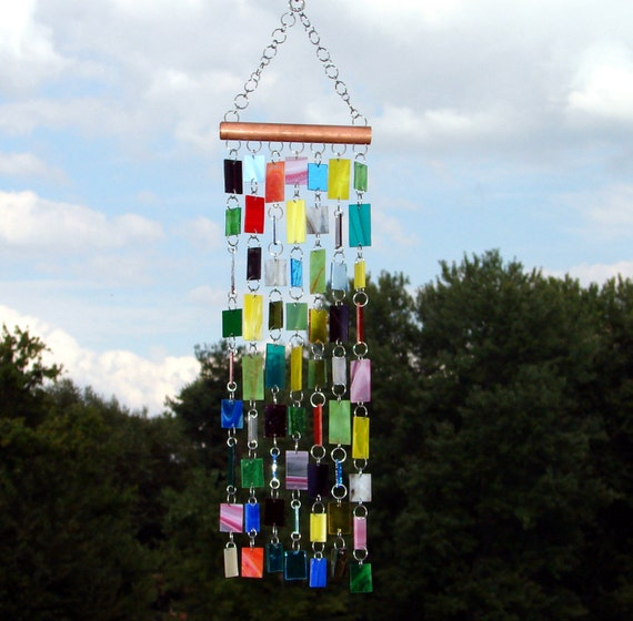 Granny's Lap Quilt -- Stained Glass -- Kaleidoscope -- Colored Glass -- Wind Chimes -- SunCatcher -- OOAK