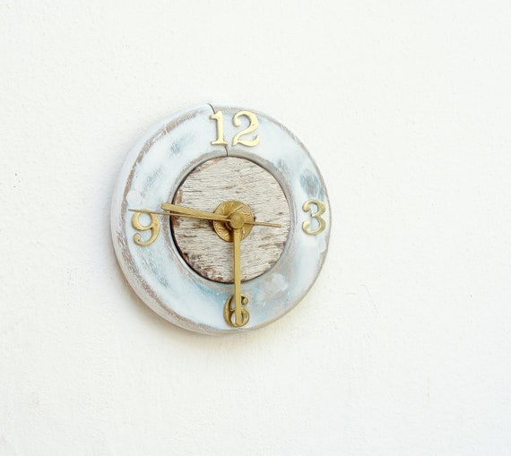Porthole Clock - Driftwood and Brass