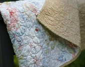 Quilt -  baby quilt, accent, or throw - Seaside Rose