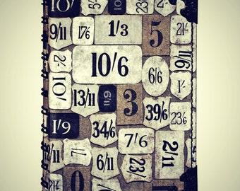 Tim Holtz District Market Spiral Journal/Smashbook Numeric 4 x 5.75 /80 pages