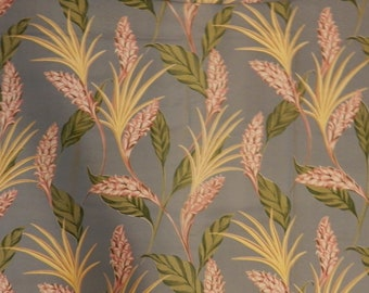 SALE.  Vintage Bark Cloth Tropical Pattern