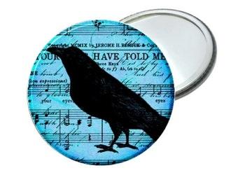 Mirror - Blue Sheet Music Crow Raven Image