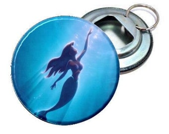 """Bottle Opener - Disney Little Mermaid Swimming Image 2.25"""""""