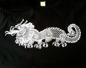 Men's Alice in Wonderland's Jabberwocky Dragon Cotton T/ Tee Shirt in Black