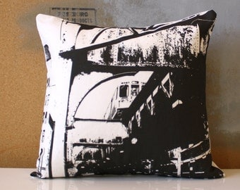 SALE - Chicago Pillow - Urban Throw Style no15 - 16 x 16
