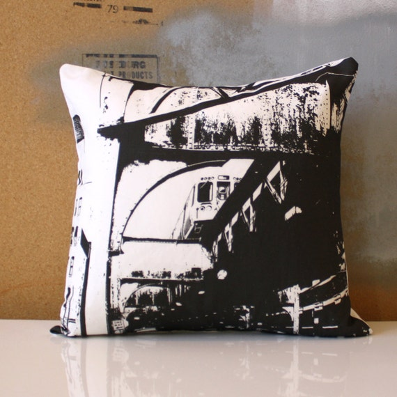 Chicago Pillow - Urban Throw Style no15 - 16 x 16