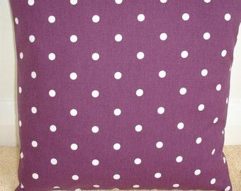 "20"" Large Purple Polka Dot Cotton Pillow Sham Designer Couch Cotton Cushion Cover Case Sham Slip Pillowcase Pillowsham Pillowslip NEW White"