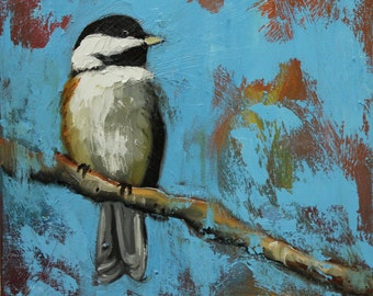 Bird 99 10x10 inch Print from oil painting by Roz
