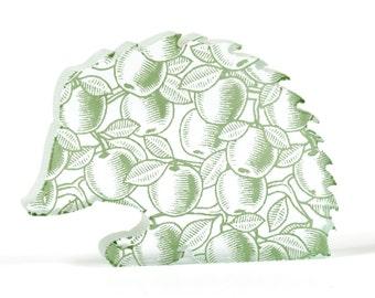 Apple Hedgehog Glass Sculpture