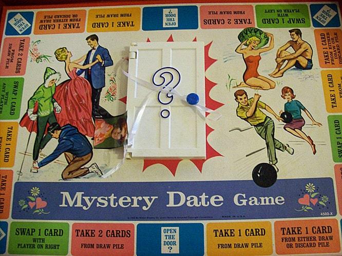 Vintage mystery date board game 1965 by buckaroosmercantile