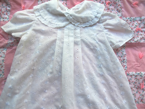 White Eyelet Lace Dress 12-18 Months