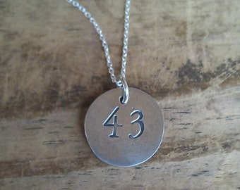 Reversible Initial and Jersey Number Pendant Necklace's