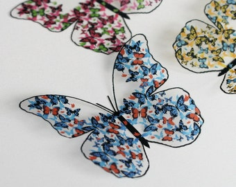 NEW - B165 - 12 x 3D Clear Wing Butterflies for scrapbooking, cards, weddings, decorations