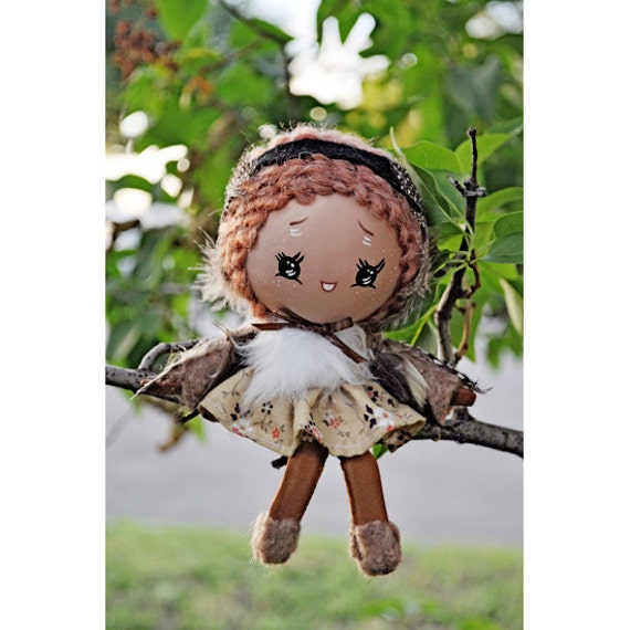 bird doll 6 inch sparrow baby Moon Head This is Chirp CUSTOM ORDER for BLUEBERRYDAMSEL