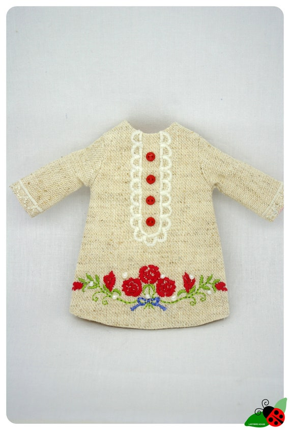 LADYBIRD HOUSE Blythe Outfit Red And Flower Dress