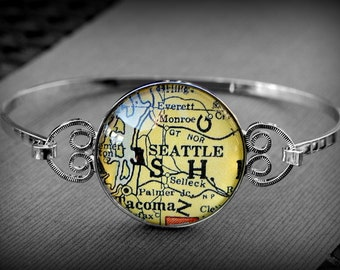 Seattle Map Bracelet