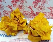 Hand Dyed Seam Binding Ribbon Sunflower