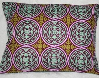 "Lumbar Travel Pillow Cover -Joel Dewberry Aviary 2 Ironwork in Lilac - 12""X16"" (#31*)"