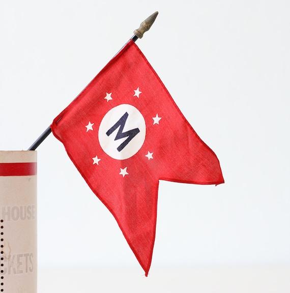 Vintage Letter M Flag