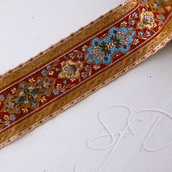 Luscious Tapestry Ribbon Trim, made in France... destash... 2.75in W x 1.5 yd