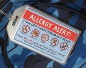 Reserved for Danielle: Alert-my-Allergy Backpack Tag