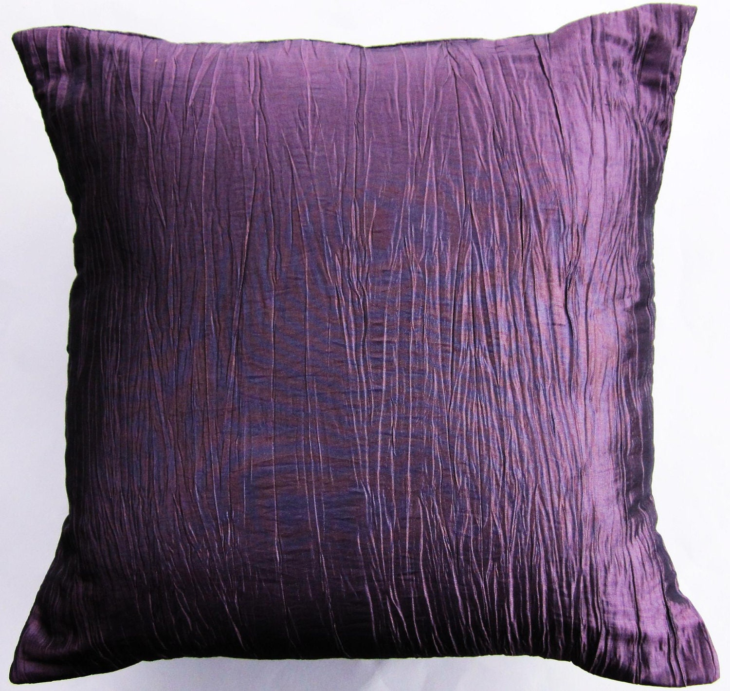 Purple Pillow Cover Crinkled Mauve Light Purple Throw