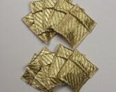 10 Ribbon Pouches - Gold