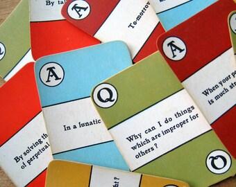 Vintage Askim Question & Answer Cards - Random Set of 8