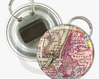 Buy 2 Get 1 Free Wedding Party Groomsmen Best Man Father of Bride Gifts for Him Custom Maps 2 1/4 inch Bottle Opener