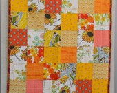 vintage summer crib quilt