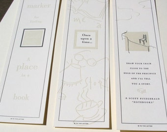 3 Letterpress Bookmarks
