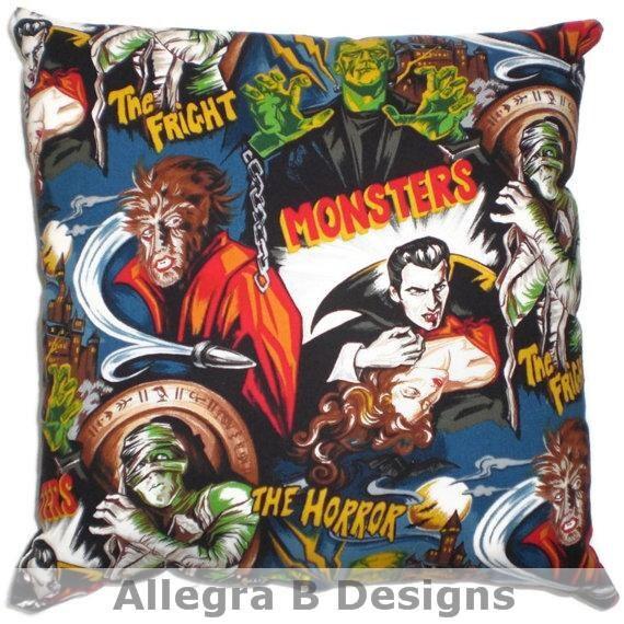 Rockabilly Kitchen Decor: Rockabilly Horror Monster Throw Pillow Psychobilly By AllegraB