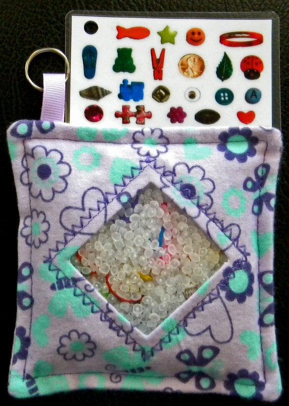 I Spy Bag - Mini with Sewn Word List and Detachable Picture List- Butterfly Days