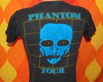 vintage 1984 rock t-shirt THE FIXX concert band phantom tour black tee shirt Small soft thin