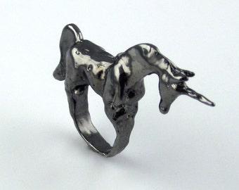 Black Unicorn Ring