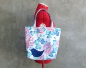 Bird and Flowers Market Tote