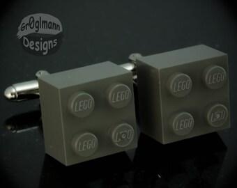 LEGO Gray Cufflinks