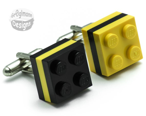 Pittsburgh Cufflinks :) made with LEGO bricks