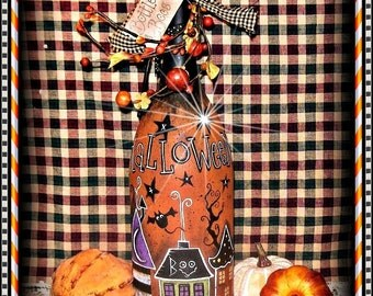 """E Pattern - Martha Smalley's Apple Tree Cottage Designs - """"Bottle of Boos"""""""