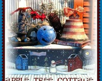 """E Pattern - Martha Smalley's Apple Tree Cottage Designs - """"Primitive Americana Snow Scene"""""""