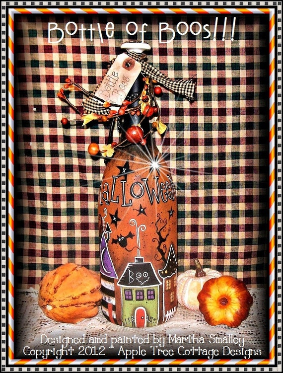 "E Pattern - Martha Smalley's Apple Tree Cottage Designs - ""Bottle of Boos"""
