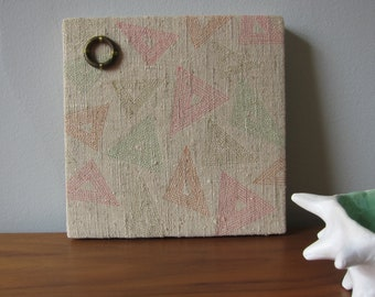 Triangles Au Naturale Textile Wall Art by Tiny Marie OOAK