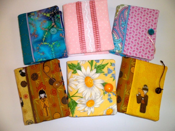 Reserved for Tammy F   6 Small Spiral Notebook Cover with Pads included